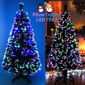 FIBER OPTIC CHRISTMAS XMAS TREE INDOOR ARTIFICIAL TRADITIONAL LED TIPS NEW
