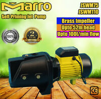 Marro Self Priming Water Pump 1/1.5HP Garden Water Pump Bore Tank JSWM75 JSWM110