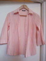 BHS Light Pink V Neck 3/4 Sleeve Blouse / Shirt / Top in Size 8