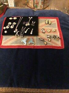 Bundle Of Earrings Clip Ons & Studs, Dangly Etc
