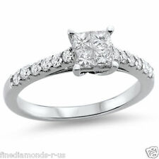 0.64ct Princess & Round Diamonds Engagement Ring Available in Gold and Platinum