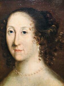 Fine 17th Century French Portrait of Duchess de Thouars (1601-1665) Jean DUCAYER