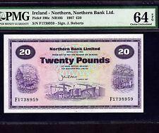 Northern Ireland, 20 Pounds 1987, P-190c, Pmg Unc 64 Epq