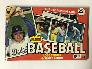 1982 Fleer MLB Sticker Logo & Stamp Album Book - COMPLETED - 242 Stamps