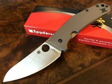 Spyderco Knife Spydie Chef Titanium Frame Lock LC200N C211TIP