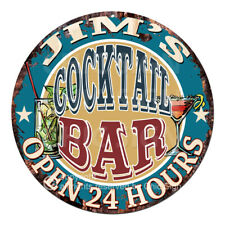 CPCO-0153 JIM'S COCKTAIL BAR Tin Sign Valentine Father's Day Christmas Gift Idea