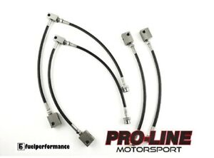 Stainless Steel Braided Brake Line Kit Front & Rear BLACK Fits: NISSAN GTR R35