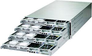 4U Supermicro 48 bay Hadoop 4 Node Server 8x Xeon E5-2630L V2 6 core 1TB RAM REG