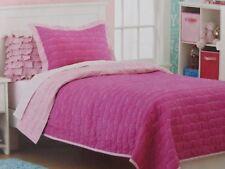 2 pc Circo Pretty Pink Goodnight Twin Quilt and Sham Set NIP
