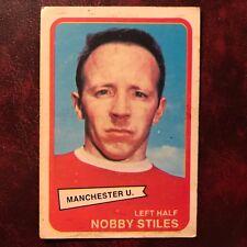 1968/69 A&BC Footballer Set NOBBY STILES #95 MANCHESTER UNITED - VG/VG-EX