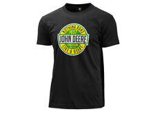 John Deere T-shirt Nothing Runs Like A Original Herren Schwarz Baumwolle Kurzarm