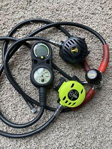 US Divers CONSHELF 21 Scuba Diving Regulator Aqua-Lung Pivot Octo Setup Untested