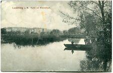 LANDSBERG /Warthe /GORZÓW W. Partie am Kladowteich Boot 1914