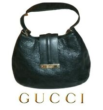 GUCCI ~ Black Leather GG  GUCCISSIMA  Hobo Bag  ~ 100% AUTHENTIC