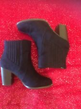 Navy Red herring Ankle Boots With Heels..size Uk 4 Good Condition
