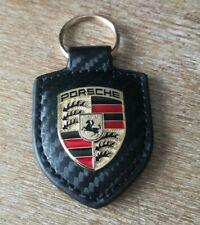 Porte clef Porsche effet carbone NEUF