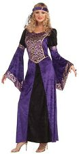 Femme sexy violet médiéval renaissance tudor queen fancy dress costume outfit
