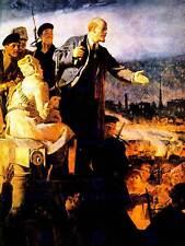 Retrato de pintura de revolución rusa Fine Art Print cartel CC1369 Lenin