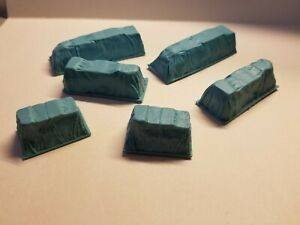 HO Scale Green Tarped Loads - Scenery Accessories