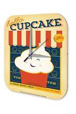 Horloge murale Décor De Cuisine  Cupcake Cake Shop Imprimee Acrylglas