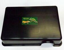 "Large Black Plastic Reptile Hide Box - 13"" x 9"" Snakes Lizards Python"