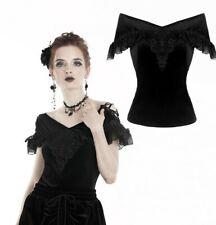 Dark in Love Victorian blouse off shoulder lace romantic elegant gothic TW185