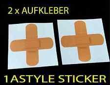 2 x Pflaster Kreuz Fail sticker jdm aufkleber domokun fun tuning Sticker d92