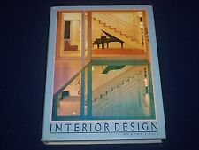 1988 INTERIOR DESIGN BOOK BY JOHN F. PILE - GREAT COLOR PHOTOS- KD 2434