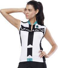 Women Ladies Cycling Jerseys Sleeveless Bike Shirts Clothing White S-XXXL