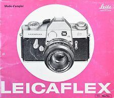 Manuel d'utilisation pour appareil photo Leicaflex par Leitz. (Fr)