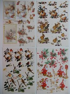 "Christmas Decoupage Sheet with 2 Designs ""Christmas Season"" (Choice of 4)"