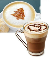 16 x Cappuccino Kaffee Kakao Motiv Schablonen Template Latte Art Design Deko