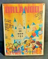 WALT DISNEY WORLD ORLANDO National Airlines Handmade Disney World vintage sign