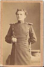 CDV photo Soldat Ulan / Leutnant / benannt - Weinharten Ravensburg 1880er