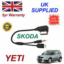 SKODA YETI Cable de audio para Htc Lg Blackberry Sony Nokia Micro & Aux 3.5mm