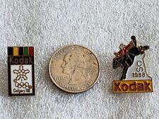 1988 Calgary Olympic winter games  2 Kodak lapel pins