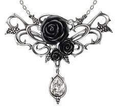 Bacchanal Rose Grapes Dionysus Black Roses Crystal Necklace P700 Alchemy Gothic