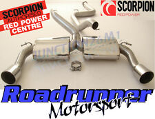 "SCORPION FORD FOCUS RS MK2 3"" Inox Sistema Di Scarico Cat Indietro Non Res (09-11)"