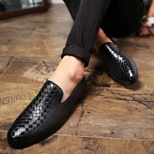 Fashion Men's Leather Loafers Casual Driving Shoes Wedding Low Heel Slip On