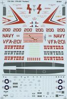 Microscale Decals 1/48 McDonnell-Douglas F/A-18A Hornet+ # SS480924
