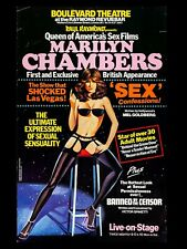 """MARILYN CHAMBERS raymond REVUE BAR  16"""" x 12"""" Reproduction SHOW Poster"""