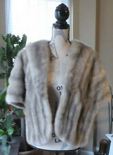 Sapphire Silver Gray Mink Stole Cape Fur
