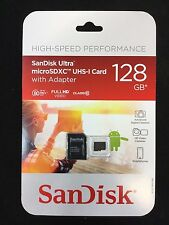 SanDisk Ultra 128GB microSDXC UHS-I Card with Adapter, Black, Class 10 *NEW