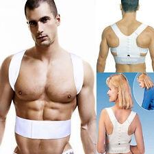 Unisex Adjustable Magnet Posture Back Shoulder Corrector Support Belt Therapy