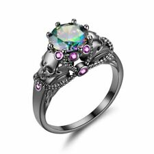 Skull Promise Ring for Women Fashion Jewelry crystal Wedding Engagement Valentin