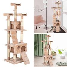 "New listing 66"" Sisal Hemp Cat Tree Tower Condo Furniture Scratch Post Pet House Play K"