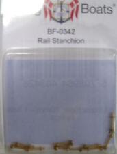 Billing BOATS Accessorio bf-0342 10mm CORRIMANO Stanchions X 10 OTTONE Pack NUOVO