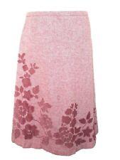 """Boden Tweed Pink Wool & Viscose Skirt Lined 12L Waist 28"""""""