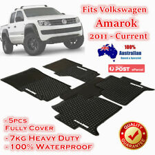 Waterproof Rubber Floor Mats Tailor Made Volkswagen Amarok 2011 - 2018 Dual Cab