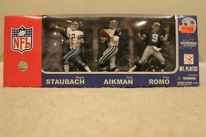 Dallas Cowboy 3 pack Mcfarlane  Romo, Staubach, Aikman